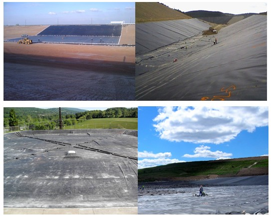 Вкладыш Geomembrane HDPE Anticorrosion на вторичное сдерживание 1.25MM