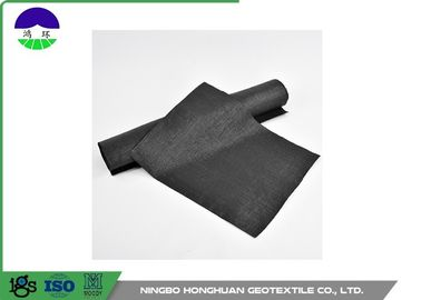 High Strength Woven Geotextile Fabric Black Color Split Film 440gsm Lightweight